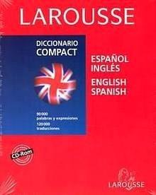 """Larousse Diccionario Compact Estañol- Inglés / English-Spanish en Cd Rom """"90000 palabras y expresiones y 120000 traducciones"""""""