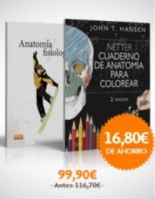 Pack/Lote Netter Cuaderno de Anatomia para Colorear + Anatomia y Fisiologia