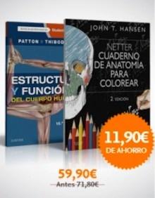 Pack/Lote Hansen - Patton. Cuaderno de anatomía para colorear + Estructura y Función del Cuerpo Humano