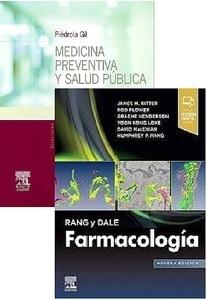 Lote Piédrola Gil Medicina Preventiva y Salud Pública + Rang y Dale Farmacología